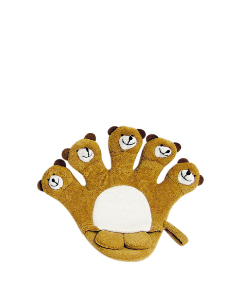 TITANIA Frottee Bath Glove For Kids 9203 Bear