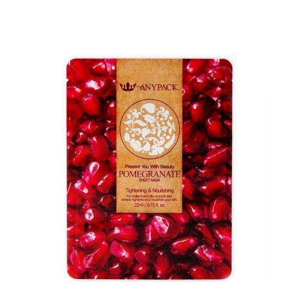 ANYPACK Pomegranate Sheet Mask 22ml