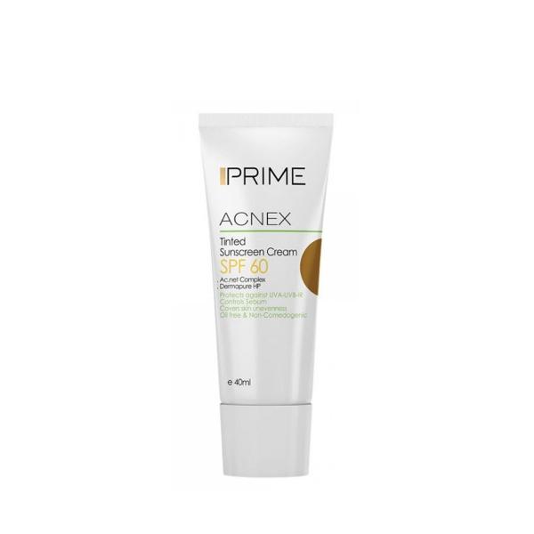 ضد آفتاب رنگی (برنزه) با SPF60 مناسب پوست چرب پریم 40 میل